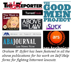 Hollywood Reporter, Above the Law, ABA Journal, Torrentfreak